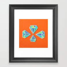 Diamonds Papercut Framed Art Print