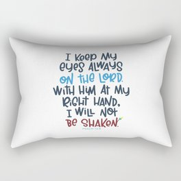 Eyes on the Lord Rectangular Pillow