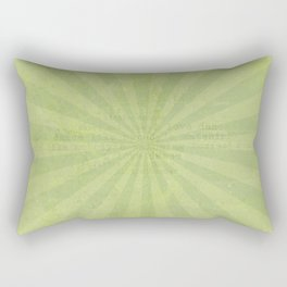 Green sun - solid colors and lifestyle Rectangular Pillow