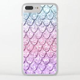 Mermaid Scales on Unicorn Girls Glitter #4 #shiny #pastel #decor #art #society6 Clear iPhone Case