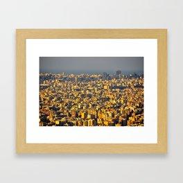 Beirut sunset Framed Art Print