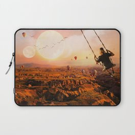 Swinging with Balloons by GEN Z Laptop Sleeve