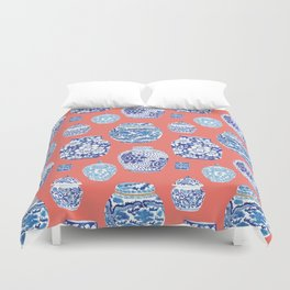 Chinoiserie Ginger Jar Collection No.4 Duvet Cover