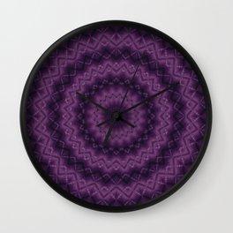 Plum kaleidoscope Wall Clock