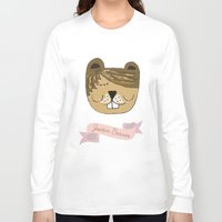 beaver Long Sleeve T-shirts featuring Justin Beaver by Katie Gaughan