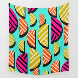 Retro slices Wall Tapestry