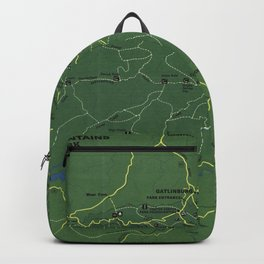 The Great Smoky Mountains National Park Map (1971) Backpack
