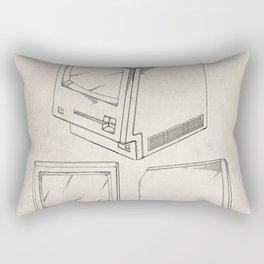 Apple Macintosh Patent - Apple Art - Antique Rectangular Pillow