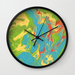 Paint Pouring 7 Wall Clock