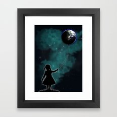 The Girl That Holds The World Framed Art Print