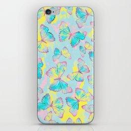 BUTTERFLIES YELLOW iPhone Skin