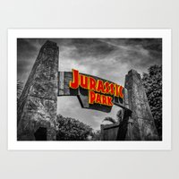 jurassic park Art Prints featuring Jurassic Park by Mark A. Hyland (MAHPhoto)