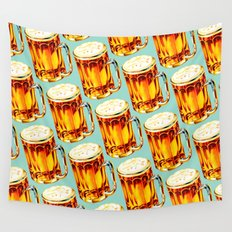 Beer Pattern 2 Wall Tapestry