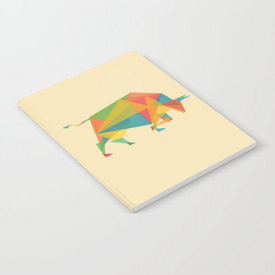 Fractal Geometric Bull Notebook