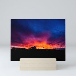 Sunset, Rural Australia. Mini Art Print
