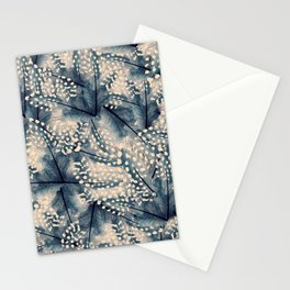 Ancona feathers - smooth beige with blue Stationery Cards