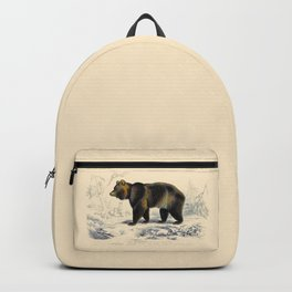 Vintage Grizzly Bear Backpack