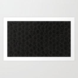 Black spiraled coils Art Print