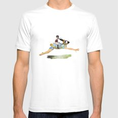 riding the rabbit Mens Fitted Tee White MEDIUM