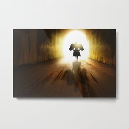 Angel In A Tunnel Of Light Metal Print