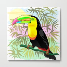 Toucan Wild Bird from Amazon Rainforest Metal Print
