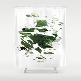 Abstract Acrylic Painting  Broken Glass THE FOREST --Modern art Shower Curtain