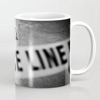 police Mugs featuring Police Line by GF Fine Art Photography