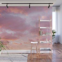Unicorn Sunset Peach Skyscape Photography Wall Mural