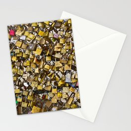 Love Locks in Paris Stationery Cards