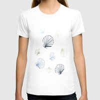 seashell T-shirts featuring Shell Pattern by Christina Rollo