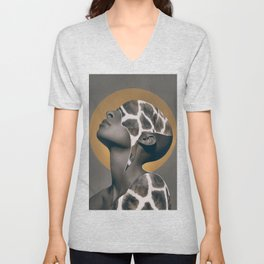 African Beauty Unisex V-Neck