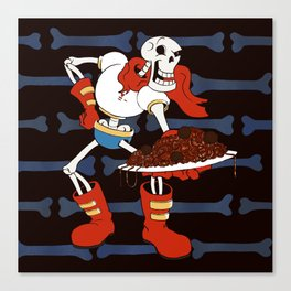 Papyrus and his Spaghetti Canvas Print