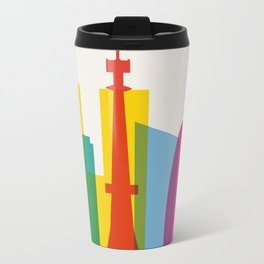 Shapes of Tokyo. Accurate to scale. Metal Travel Mug