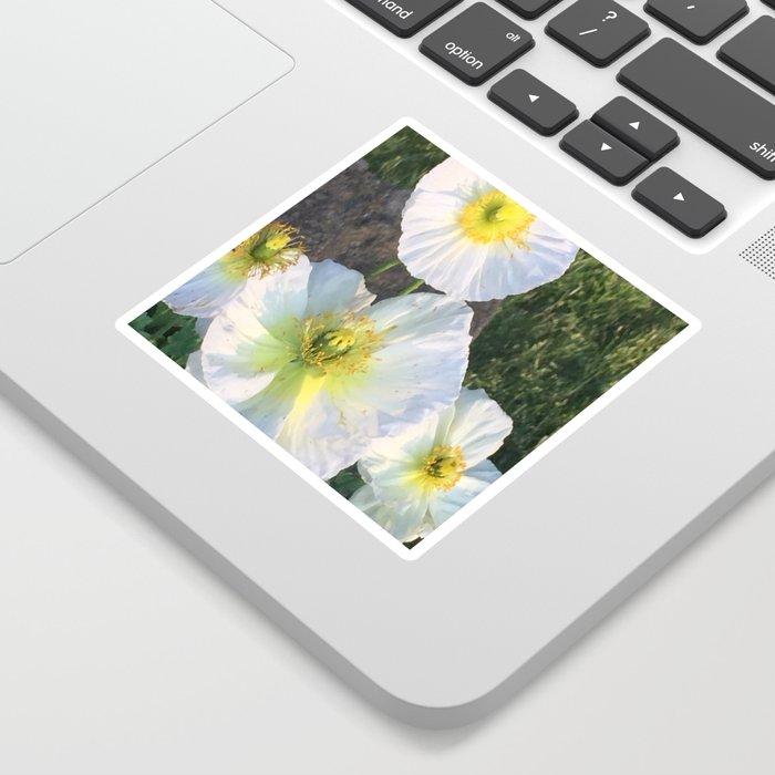 Zen White Flowers Sticker
