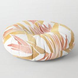 Deco Flowers ~ Metallic Birds of Paradise Floor Pillow