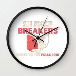 Silence Breakers - Power To The Polls 2018 Wall Clock