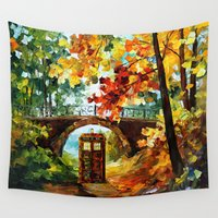 fandom Wall Tapestries featuring starry Abandoned phone box Under the bridge iPhone 4 4s 5 5c 6, pillow case, mugs and tshirt by Three Second