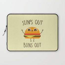 Sun's Out, Buns Out, Funny, Cute, Quote Laptop Sleeve