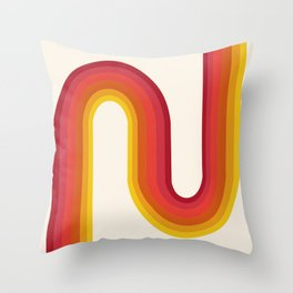 Shagadelic - 70s retro art, groovy art, trippy art, rainbow art Throw Pillow