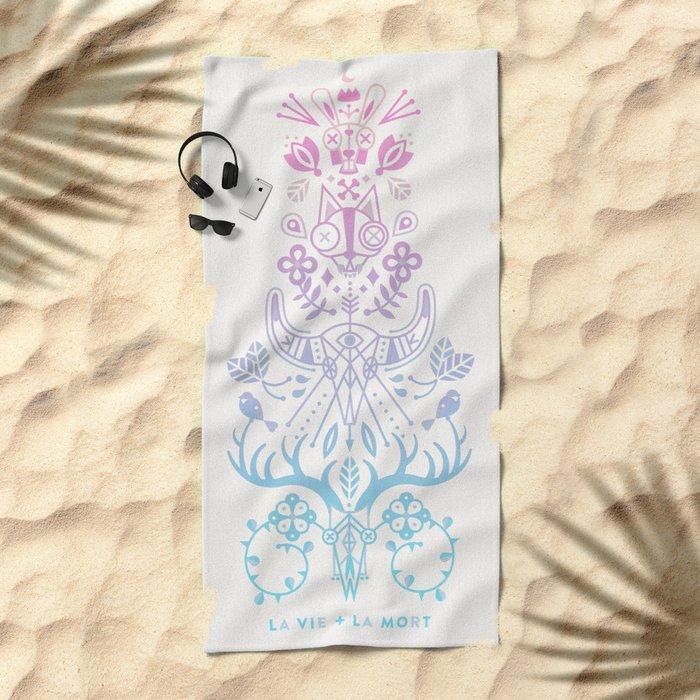 La Vie + La Mort: Rose Quartz & Serenity Ombré Beach Towel