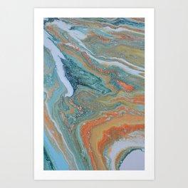 Moon Rock Art Print