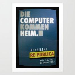 re:trospektive 1983: Die Computer kommen heim Art Print