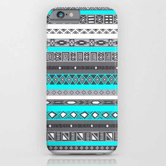 Ice Mint Blue Grey Aztec Pattern iPhone iPhone & iPod Case