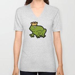 Frog Prince Pattern Unisex V-Neck