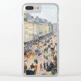 """Camille Pissarro """"La Rue Saint-Lazare, temps lumineux"""" Clear iPhone Case"""