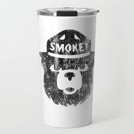 Smokey Bear Distressed Logo Travel Mug