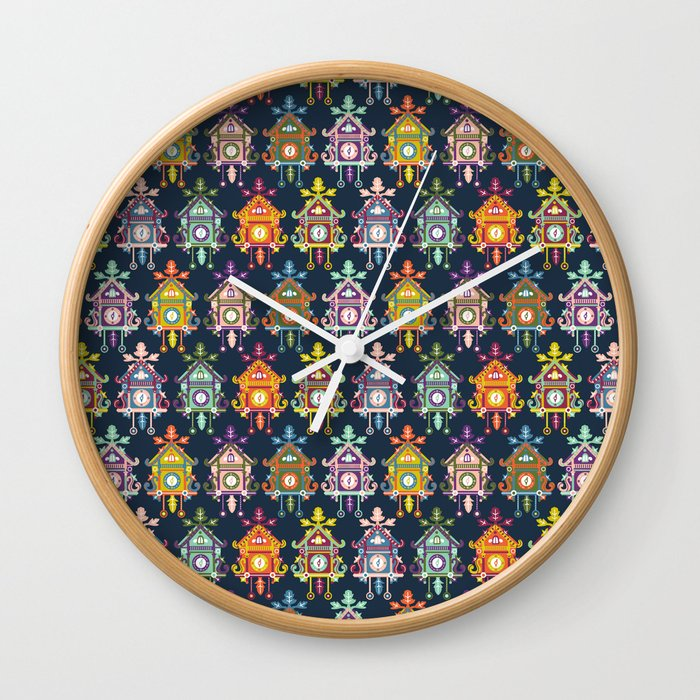 Colorful cuckoo clocks wall clock by heathercarson society6 - Colorful cuckoo clock ...