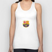 barcelona Tank Tops featuring Barcelona by Kesen