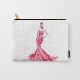 Sabrina / Hepburn Fuschia Pink Red   Fashion Gown Dress Carry-All Pouch