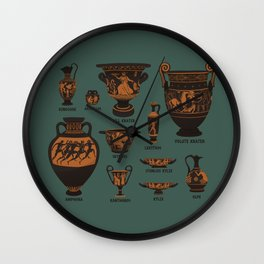 Ancient Greek Pottery Wall Clock